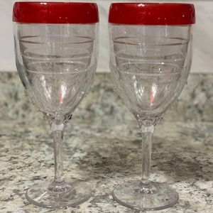 SET OF 2 TERVIS WINE GLASSES